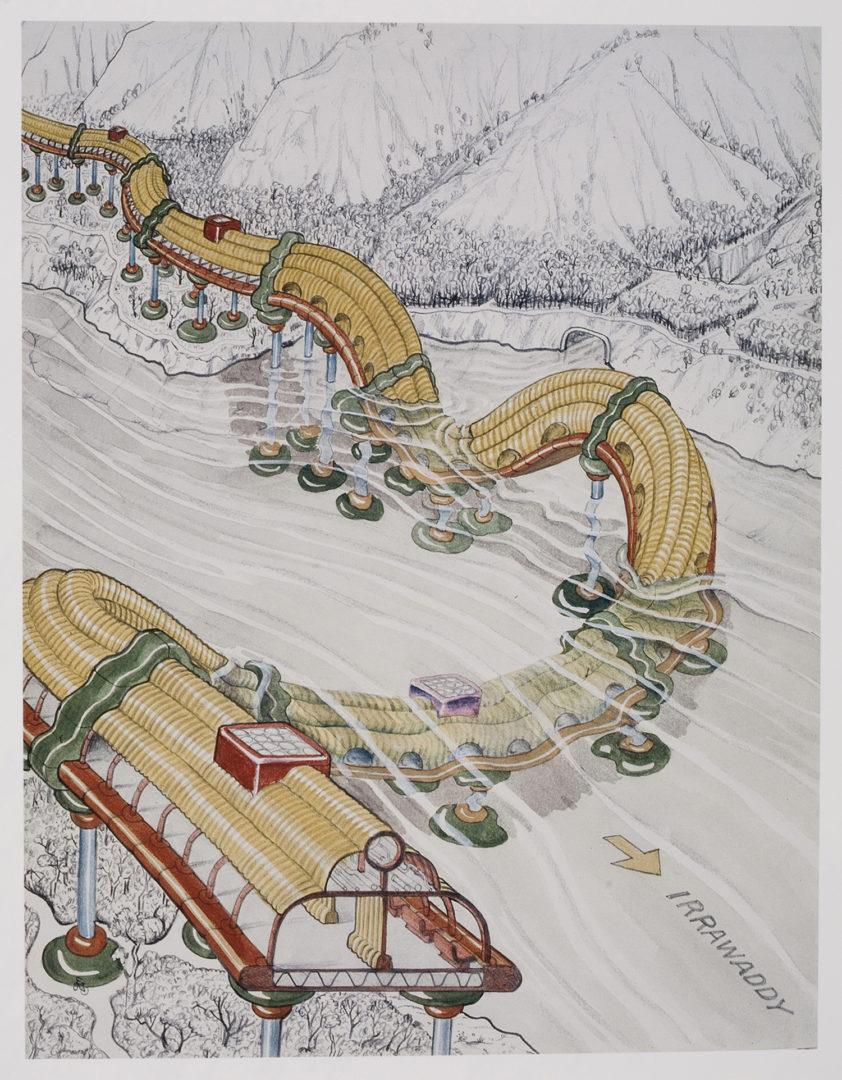 Ettore Sottsass - Disegno per il pianete come festival (1972)