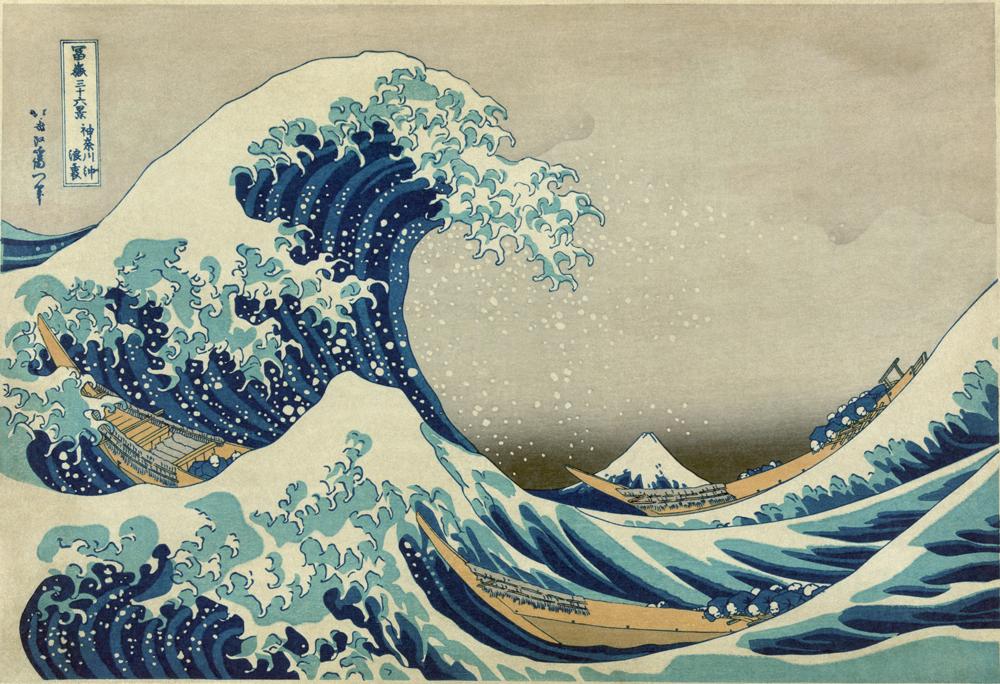 La grande onda di Kanagawa è una xilografia del pittore giapponese Hokusai